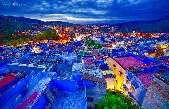 Chefchaouen in Morocco' The Blue City Seen From The Sky