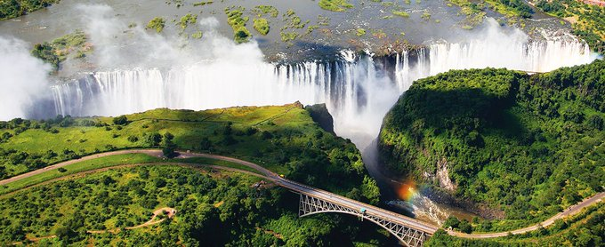 Victoria Falls in Zambia and Zimbabwe' A World Spectacle